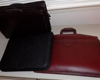 portfolios and Hartmann leather briefcase