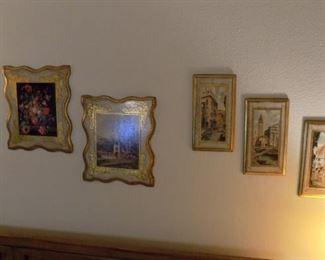 vintage florentine plaques