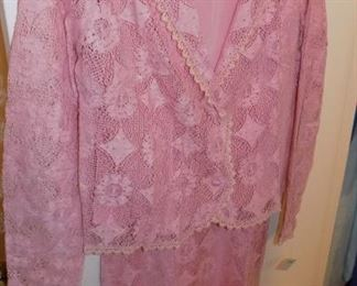 vintage lace dress with jacket