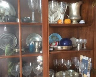 Misc glassware and silver