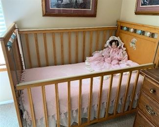 Baby crib used only as display for dolls and fun