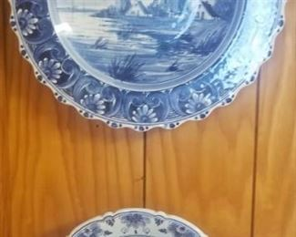 Blue and White plates, Delft plates