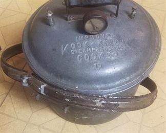1930s Kook Kwick cast iron pressure cooker