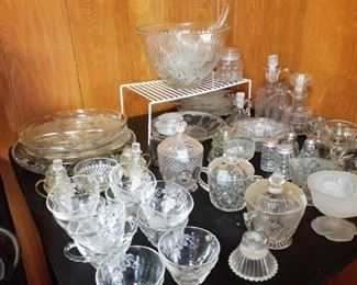great glass ware, punch bowl
