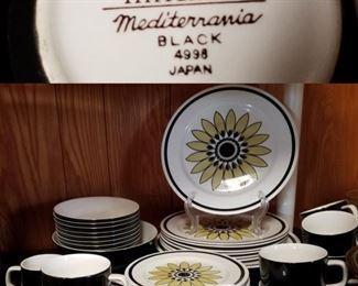 Mikasa Mediterrania Capri and Mediterrania Black Vintage China