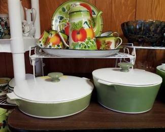 Mid Century Corningware Covered Dishes