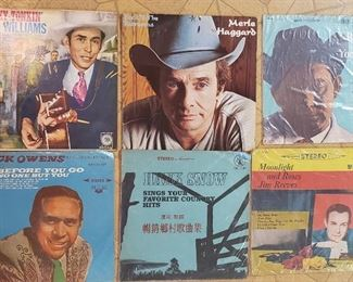 vinyl albums, records, country music