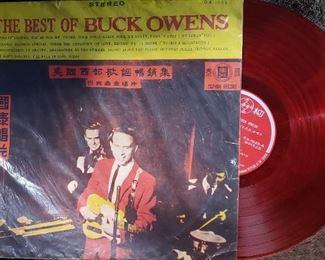 red vinyl Taiwan Import record, album, lp