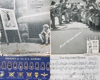1942 Messenger Vintage US Marine ephemera