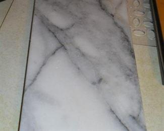 Rabbit motif marble cutting board