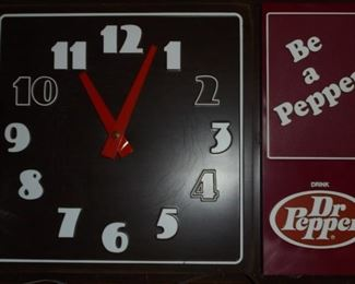 Electric Dr.Pepper wall clock - works