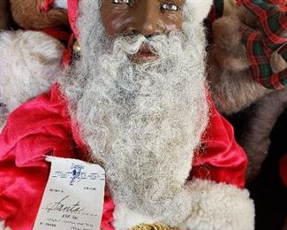 Large Santa signed by the artist.