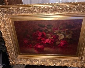 WE ARE UPLOADING ALL PRICES NOW...ANTIQUE OIL PAINTING $350