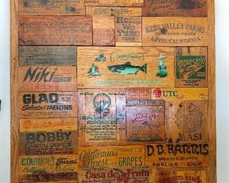 One of a Kind Wood Crate Mosaic Wall Art