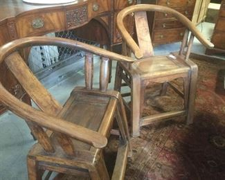 Early 20th century Chinese pair of chairs