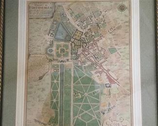 C. 1700s French hand colored engraving