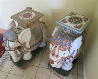 Elephant-Themed Accent Tables