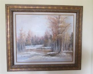 Large Variety of Framed Wall Art:  Landscapes, Seascapes, Still Life, Floral, Southwest, Harbors, Birds, Sailboats, Winter Scenes, Asian Themes