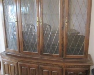 "4-Section China Cabinet by Ethan Allen.  Plentiful Storage & Display, 66"" X 18"""