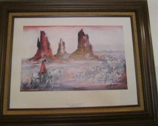"Framed DeGrazia ""Bringing In The Sheep"", 1981"
