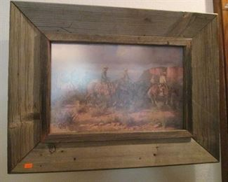 Very Large Collection of Cowboy & Native American Framed Art