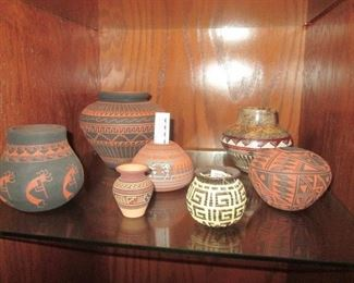Pieces Purchased at Hubbell Trading Post, Heard Museum, Garlands in Sedona, Navajo Shows, Hopi Guild.