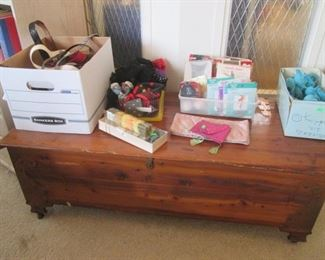 Cedar Chest + Assorted Ladies Accessories