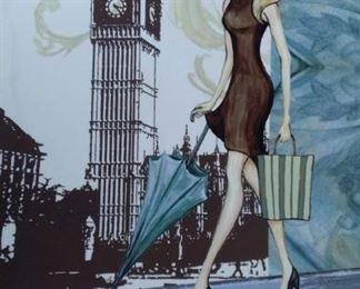tbs London girl canvas