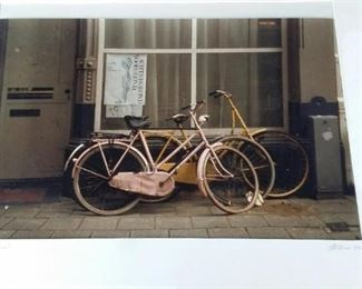 tbs signed original bicycle photograph