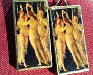 tbs Botticellis Three Graces earrings