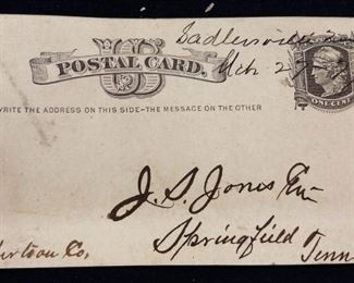 RARE 1875 PC2 US Postal Card (One of the first Postal Cards Issued by President Grant)