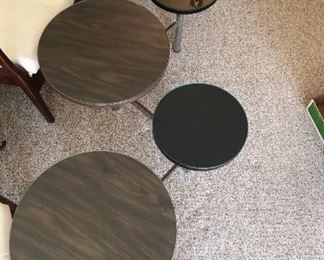 Laminate, Lacquer, Stainless Steel --Five-Disc Coffee Table