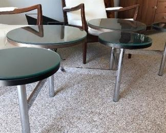 MCM Coffee Table and Pair of English Lounge Chairs