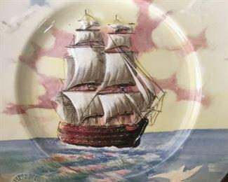 Painted and Embossed--Trafalgar Commemerative