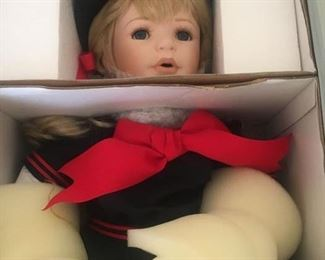 One of almost 100 Beautiful Dolls--most NOS--unused with box and accessories. Super Deals for Santa!