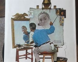 Fantastic EVERYTHING Norman Rockwell ALL in one Giant Book!--Plus Multiple Original Magazine Covers! Shipping Box too.