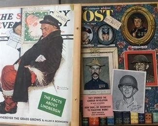 Original Magazine Covers included w/Rockwell Book