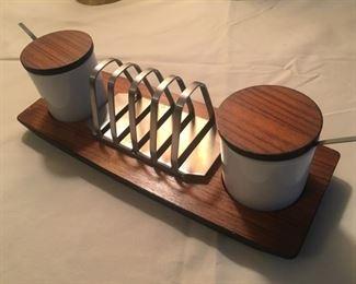 Mid-Century Modern Condiment Server and Napkin Holder? Japanese?