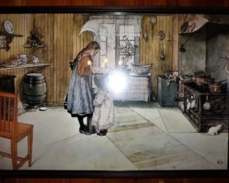 Antique print of early 20th C. kitchen