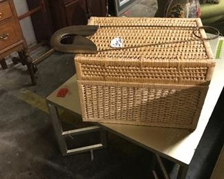Great basket box and large decorative safety pin!