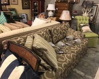 Great sofa and sconces