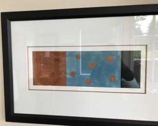 "Second signed piece by Strasenburgh ""Blue Copper with Dots  II"""