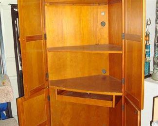 Corner Cabinet Computer Station