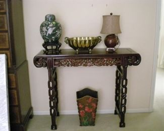 Carved wood Asian design table