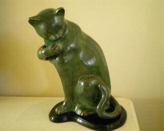 Cat bronze sculpture