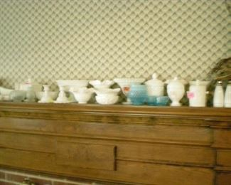 Lots and lots of milk glass
