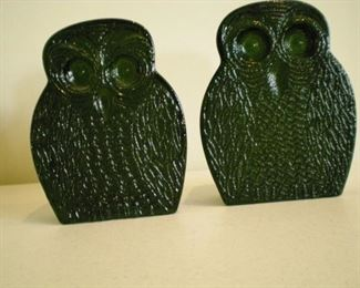 Blanko retro owl bookends