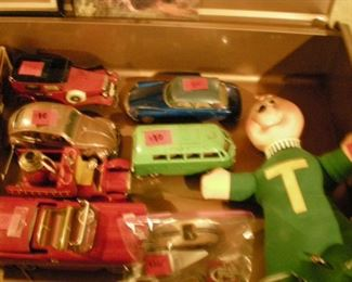 Vintage toys: Theodore chipmunk and metal cars
