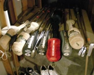 Cobra, Callaway, Big Bertha, clubs for men and women. Also, some antique clubs!