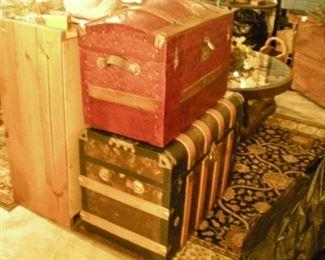 Beautiful Antique trunks